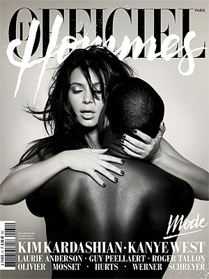 Kim Kardashian, Kanye West NSFW Photos; L'Officiel Hommes Cover Picture
