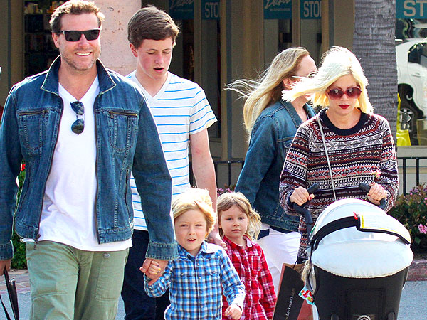 Tori Spelling's Hubby Cooks Up a Kids' Meal for a Party of Adults