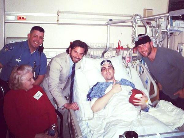 Bradley Cooper Visits Amputee Bombing Victim