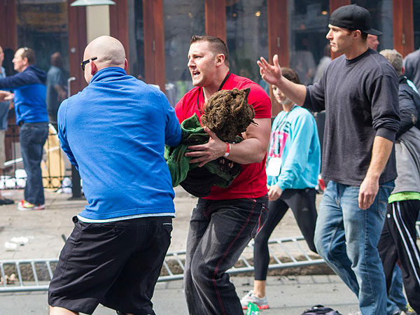 Boston Bombing: Heroes Want to Reunite with Boy They Saved