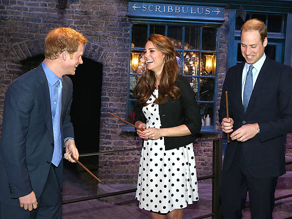 William, Kate and Harry Visit the Home of Harry Potter