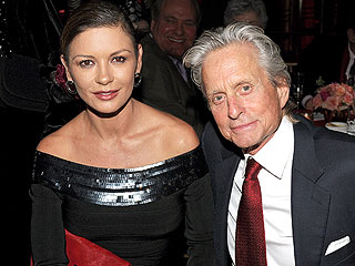 Michael Douglas and Catherine Zeta-Jones Hold Hands at N.Y.C. Restaurant