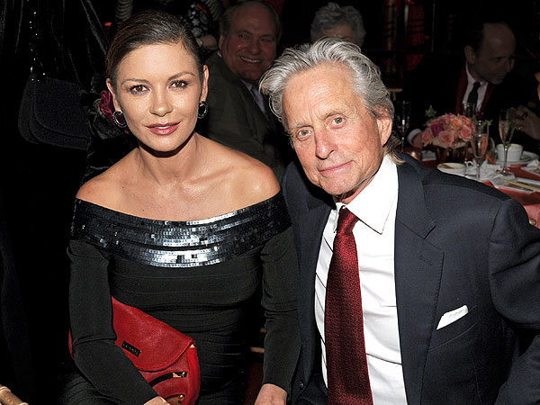 Michael Douglas & Catherine Zeta-Jones Reunited? Couple Hold Hands at Restaurant