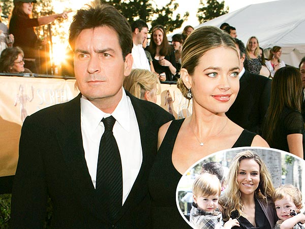 Denise Richards Caring for Charlie Sheen's Kids with Brooke Mueller