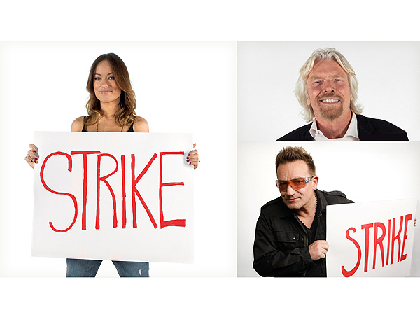 Olivia Wilde, Richard Branson & Bono Join Matt Damon's Fight for Access to Sanitary Water