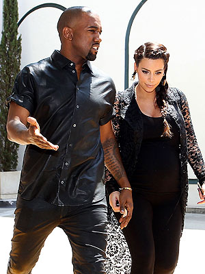 Kanye West at Kim's Side for Delivery