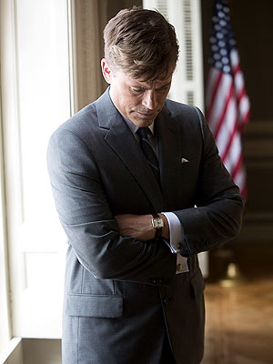 Rob Lowe as John F. Kennedy for National Geographic's Killing Kennedy
