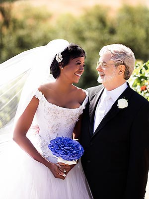 George Lucas & New Wife Mellody's Wedding Photo