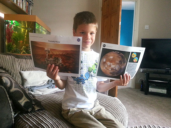 Dexter Walters, 7, Writes NASA About Mars Trip – and NASA Writes Back