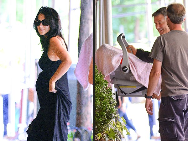 Alec Baldwin and Hilaria Bring Baby Carmen Home