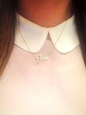 Lea Michele Tweets Photo of Herself in 'Finn' Necklace