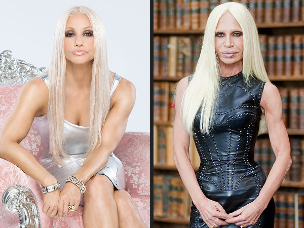 Gina Gershon Channels Donatella Versace