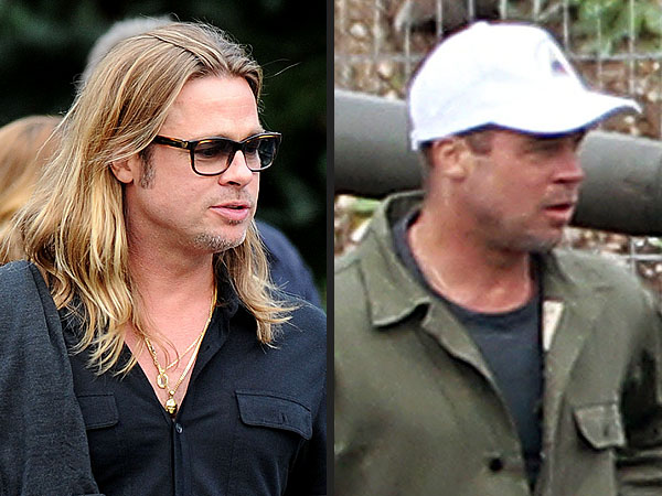 Brad Pitt Gets a Haircut for New Film