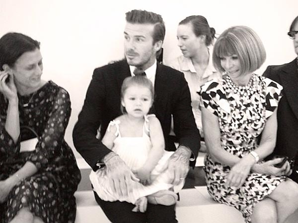 David Beckham and Harper Sit Front Row at Fashion Week