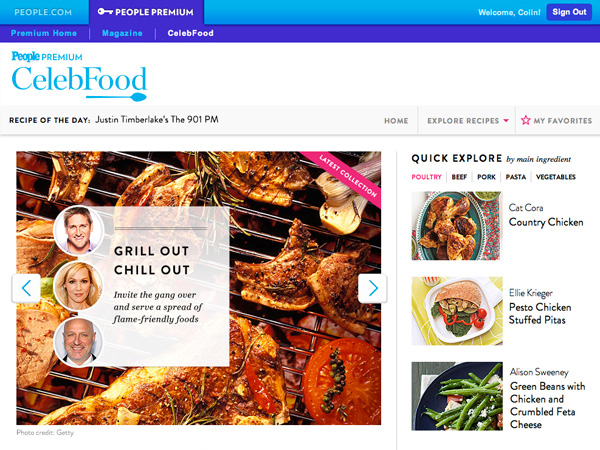 PEOPLE Celeb Food App, PEOPLE Premium, Great Ideas: All New on PEOPLE.com