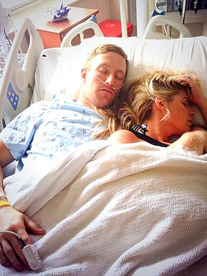 Kim Zolciak Naps with Injured Husband Kroy Biermann in His Hospital Bed