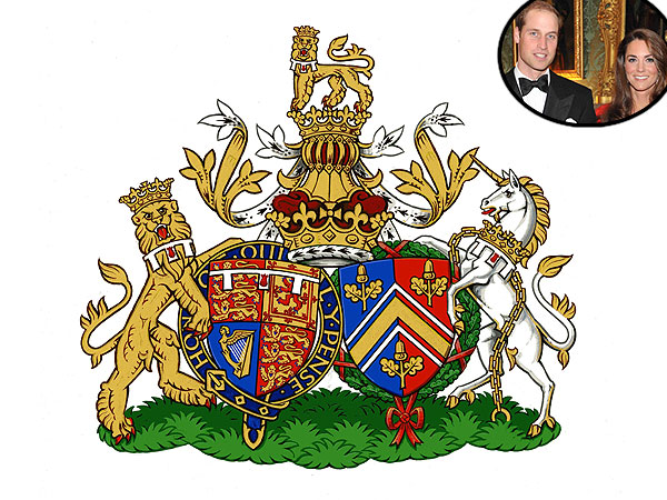 Prince William and Kate's Conjugal Coat of Arms Revealed