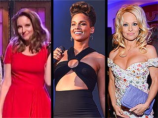 Tina Fey vs. Pamela Anderson: Who's Still Got It, Who's on the Run & More from the Weekend | Alicia Keys, Pamela Anderson, Tina Fey
