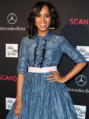 Kerry Washington Sports Husband's Sweats on Scandal Set