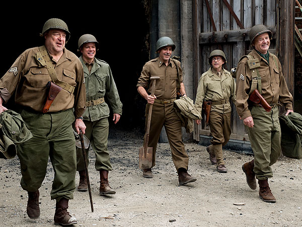 George Clooney in The Monuments Men: Stealing Art Back from the Nazis