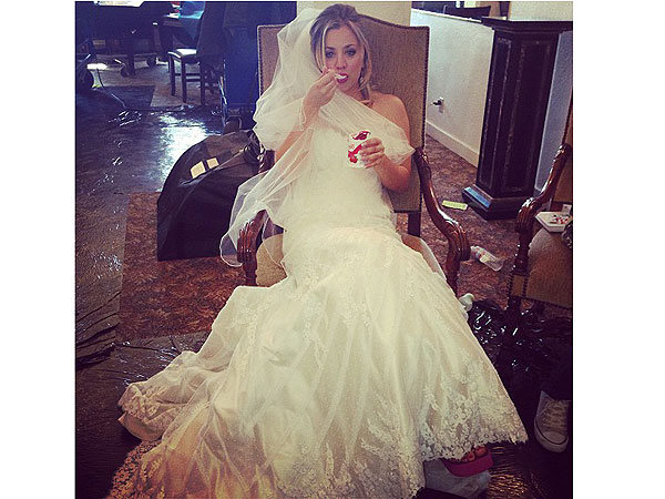Kaley Cuoco Shares Pic of Herself in a Wedding Dress