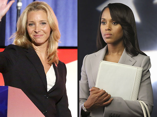 Lisa Kudrow and Kerry Washington: Watch Their Scandal Scene