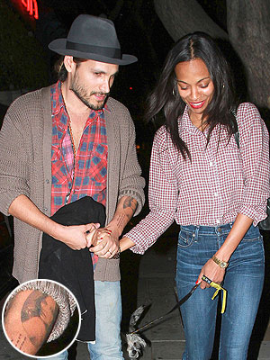 Zoe Saldana Face Tattooed on Marco Perego's Arm?