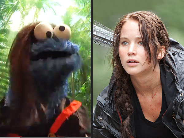Jennifer Lawrence and Catching Fire Get Spoofed in New Sesame Street Video