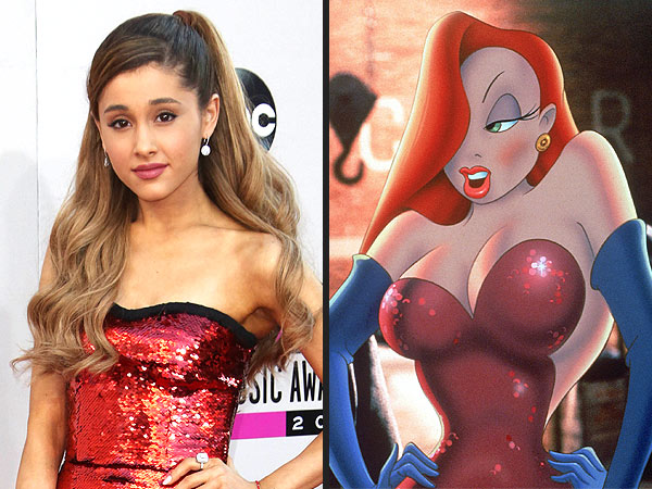 Ariana Grande Ariana Grande Mirrors Jessica Rabbit at American Music Awards