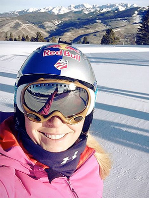 Lindsey Vonn Returns to the Ski Slopes After Injury