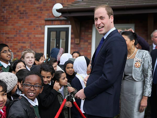 Prince Williams Visits School Children, Comments on His 'Singing Career'