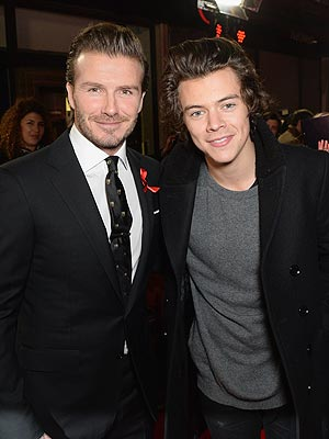 David Beckham & Harry Styles Hit the Red Carpet