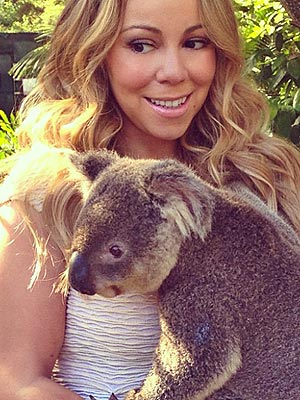 Mariah Carey Cuddles a Koala