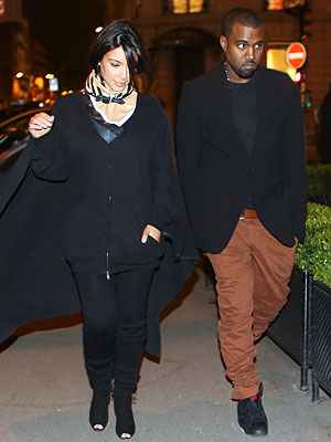 Kim Kardashian & Kanye West Step Out in Paris