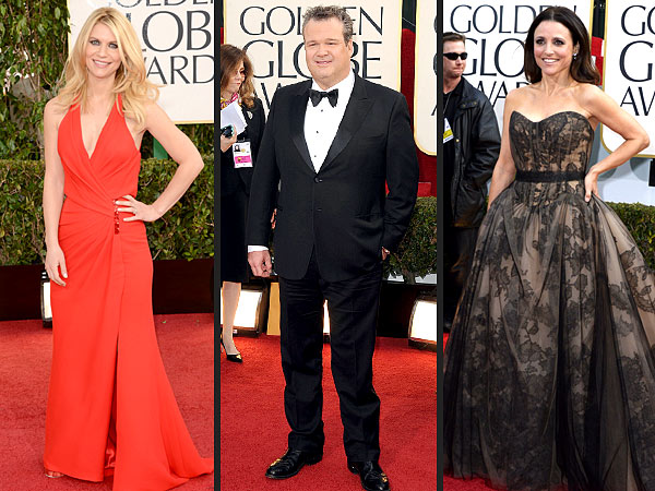 Golden Globes Red Carpet 2013 - Claire Danes, Julia Louis-Dreyfus Moments