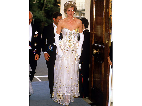 Princess Diana's Emanuel Ball Gown Sold by Kerry Taylor Auctions Infographic