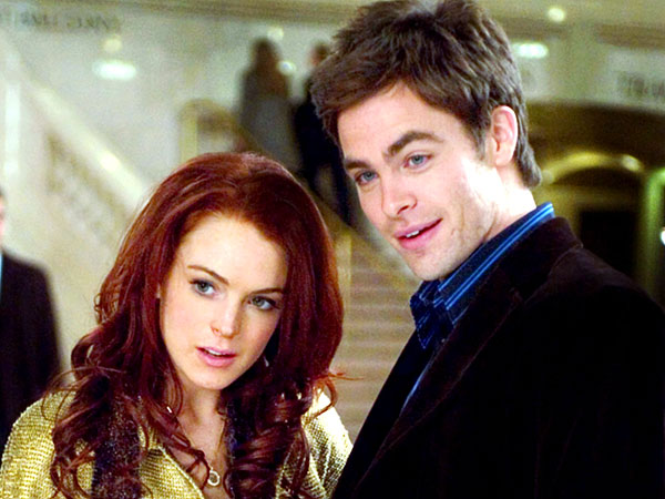 Chris Pine Recalls 'Cyclone of Insanity' Working with Lindsay Lohan