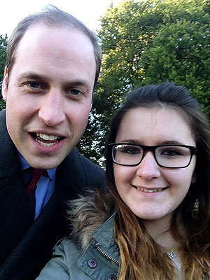 Prince William Poses for Selfie with 12-Year-Old Schoolgirl