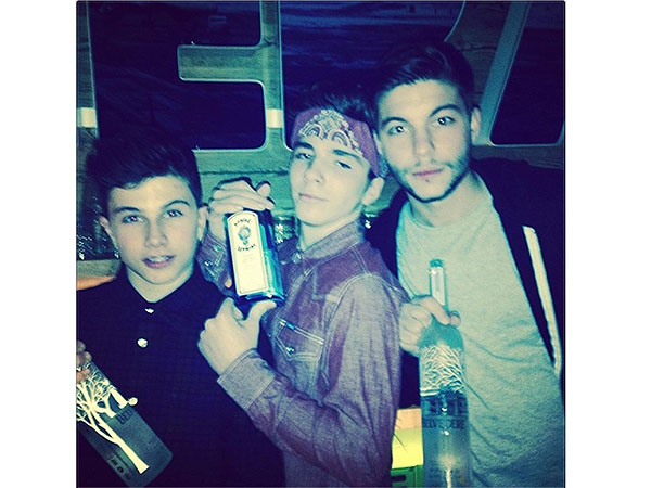 Madonna Posts Controversial Photo of Son Rocco Holding Bottle of Gin