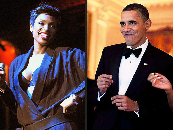 Jennifer Hudson at Michelle Obama's 50th Birthday Bash: The President's Got Moves!
