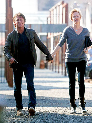 Sean Penn and Charlize Theron Celebrate an Early Valentine's Day with Friends