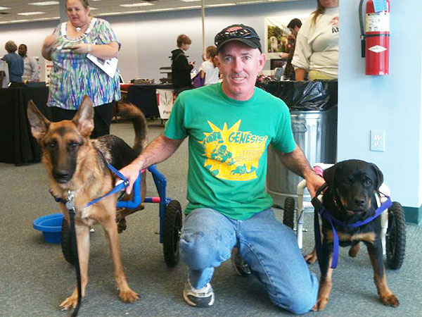 Jerry West Builds Wheelchairs for Dogs in Need