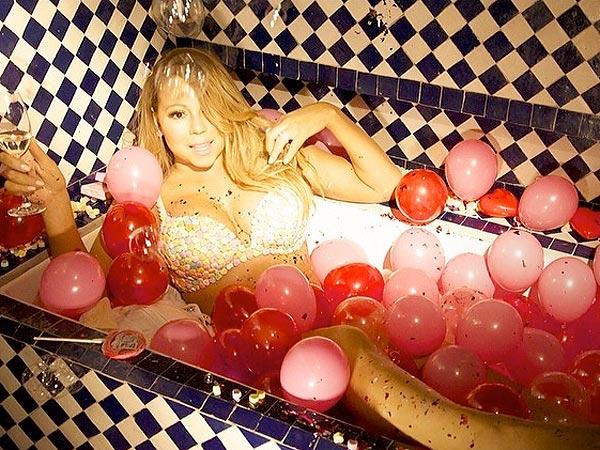 Mariah Carey's Valentine's Day? Stripped Down in a Bathtub
