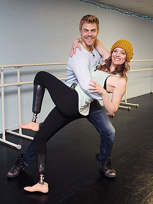 Derek Hough and Amy Purdy Aren't Letting 'Pressure' Get to Them on DWTS
