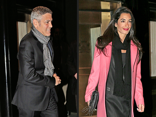 George Clooney and Amal Alamuddin Dine with His Parents in Lake Como