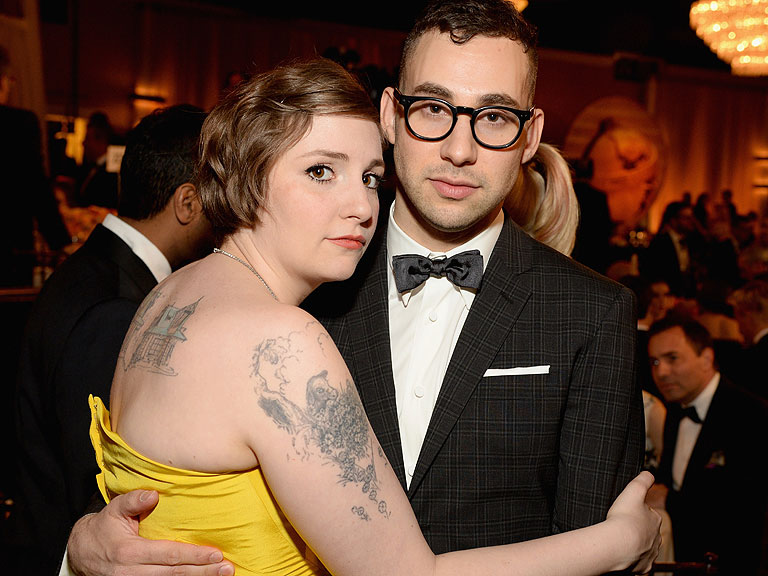 Lena Dunham Receives a Special Ring from Jack Antonoff