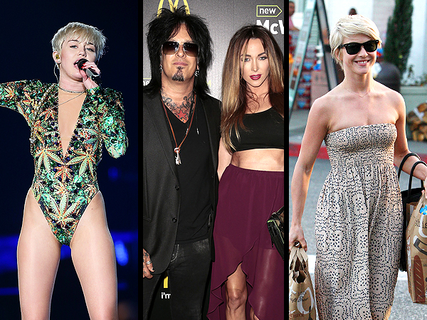 Miley Cyrus Gets Cat Tattoo, Nikki Sixx Weds Courtney Bingham
