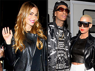 Sofia Vergara Celebrates at STK with Wiz Khalifa and Amber Rose Across the Room