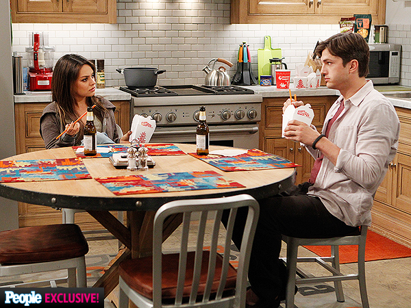 Mila Kunis and Ashton Kutcher on Two and a Half Men: See the Pics