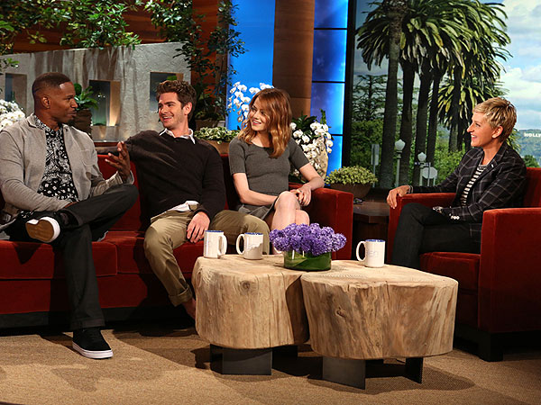 Andrew Garfield Tells Jamie Foxx to Stop Teasing Him About Emma Stone